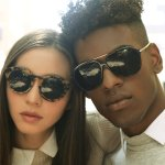 guy and girl wearing sunglasses