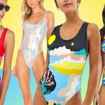 Ladies modeling swimsuits