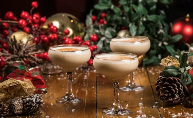 christmas cocktails on display
