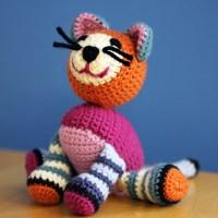 Lois Daykin Stripy Crocheted Cat Pattern