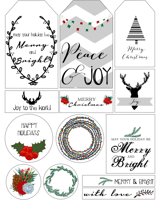 Free Printable Christmas T Tags