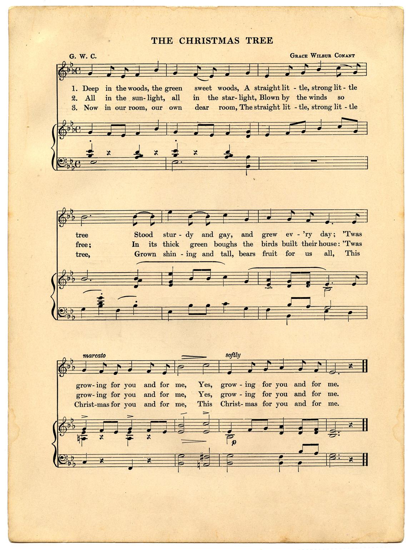 Vintage Christmas Sheet Music Printable