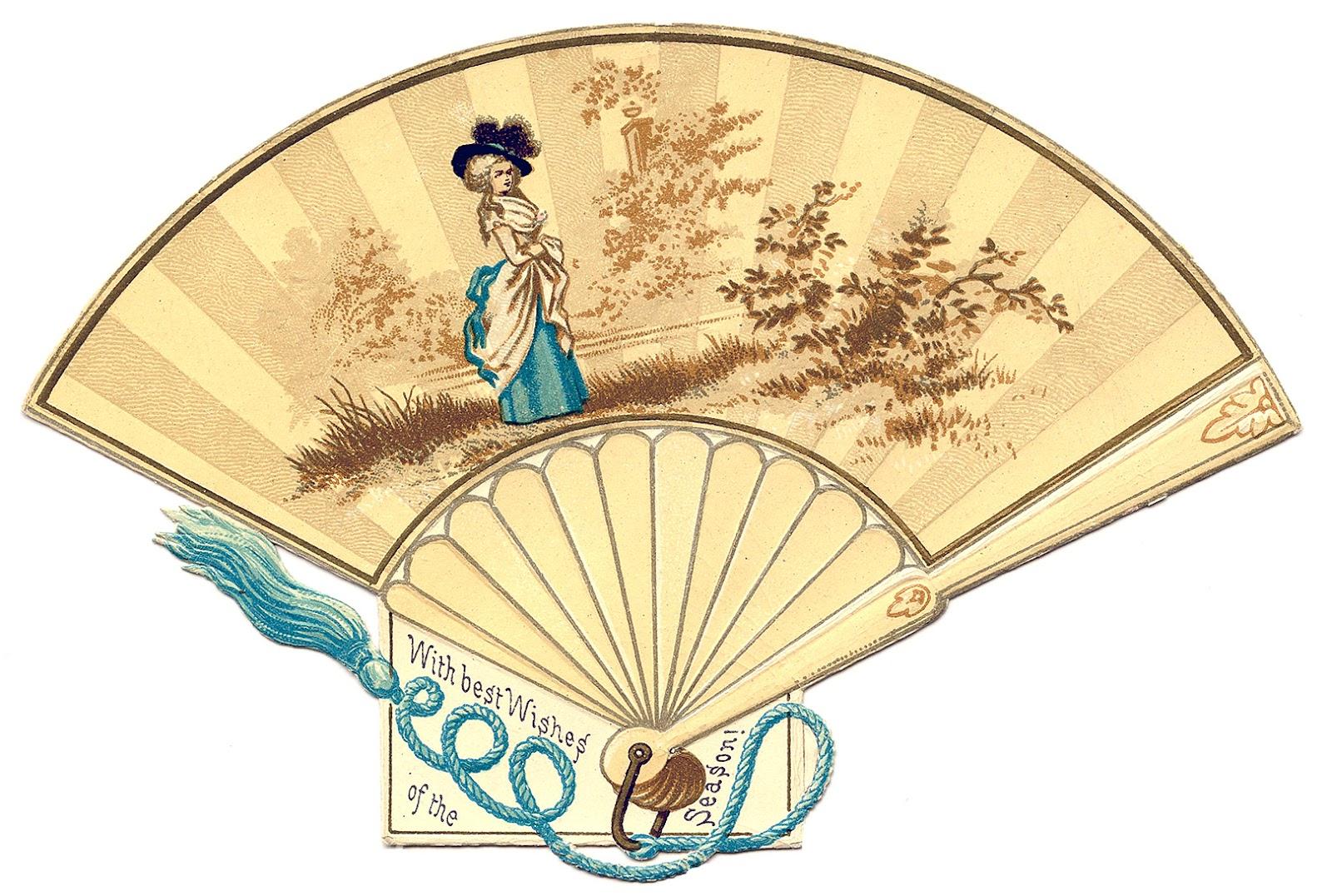Antique Graphic Marie Antoinette Fan The Graphics Fairy
