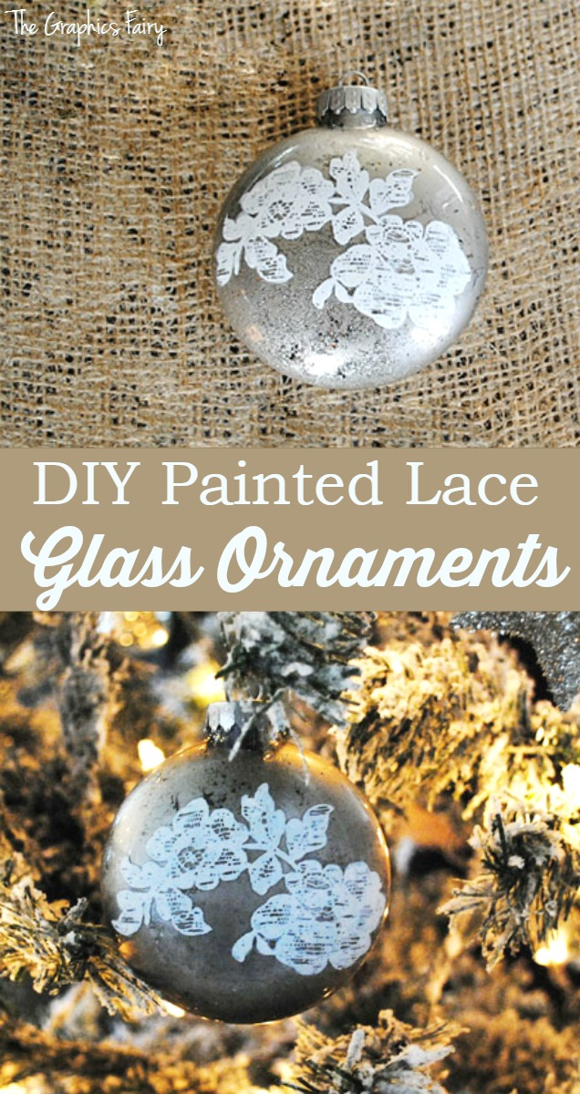 Make Some Painted Lace Glass Ornaments The Graphics Fairy