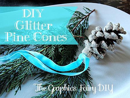 DIY Make Glitter Pine Cones The Graphics Fairy