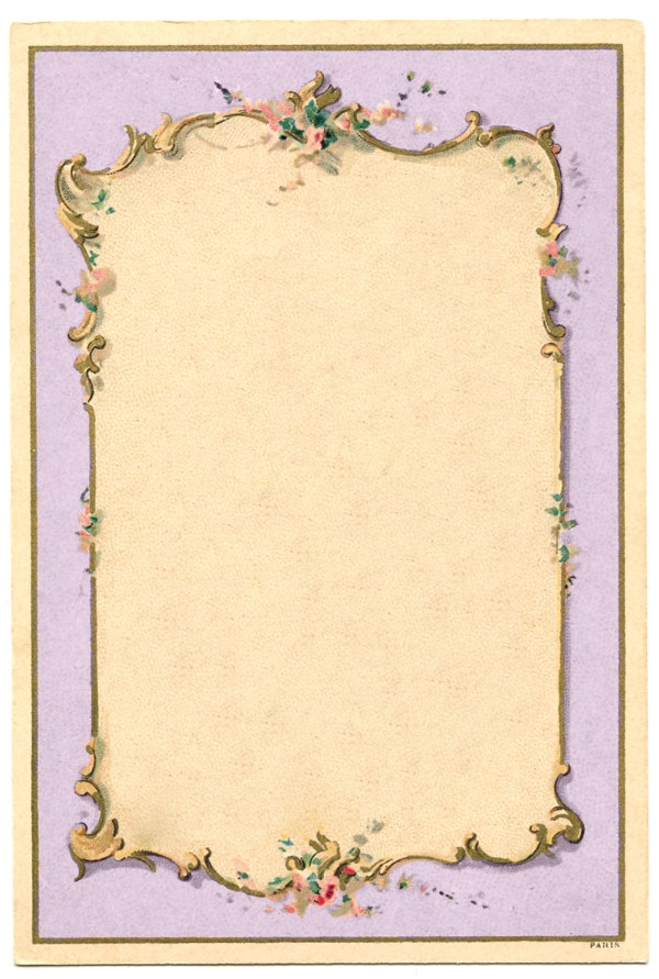 Vintage Image - French Lilac Frame - The Graphics Fairy