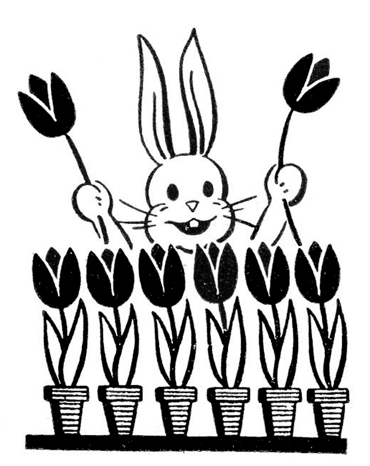 Retro Easter Bunny Images