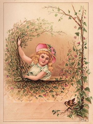 Victorian Graphic Girl With Bird The Graphics Fairy