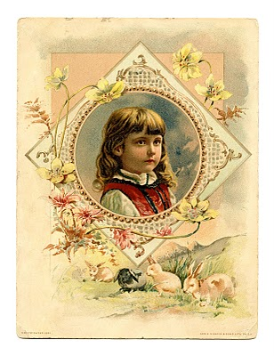Free Vintage Clip Art Pretty Easter Girl The Graphics