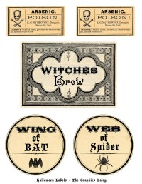 printable potion labels for halloween
