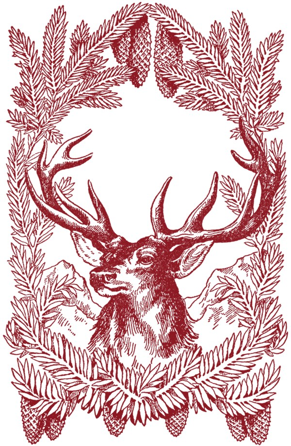 Vintage-Christmas-Deer-Images-GraphicsFairy-red - The ...