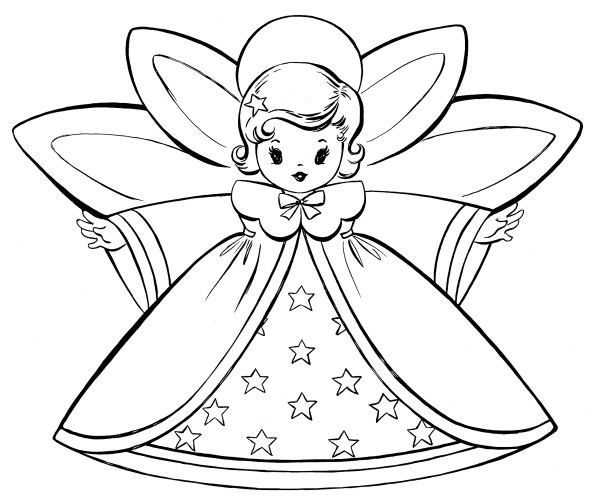angels coloring pages # 4