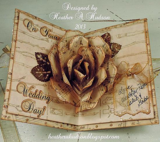 Brag Monday Sheet Music Wreath And Handmade Wedding Card