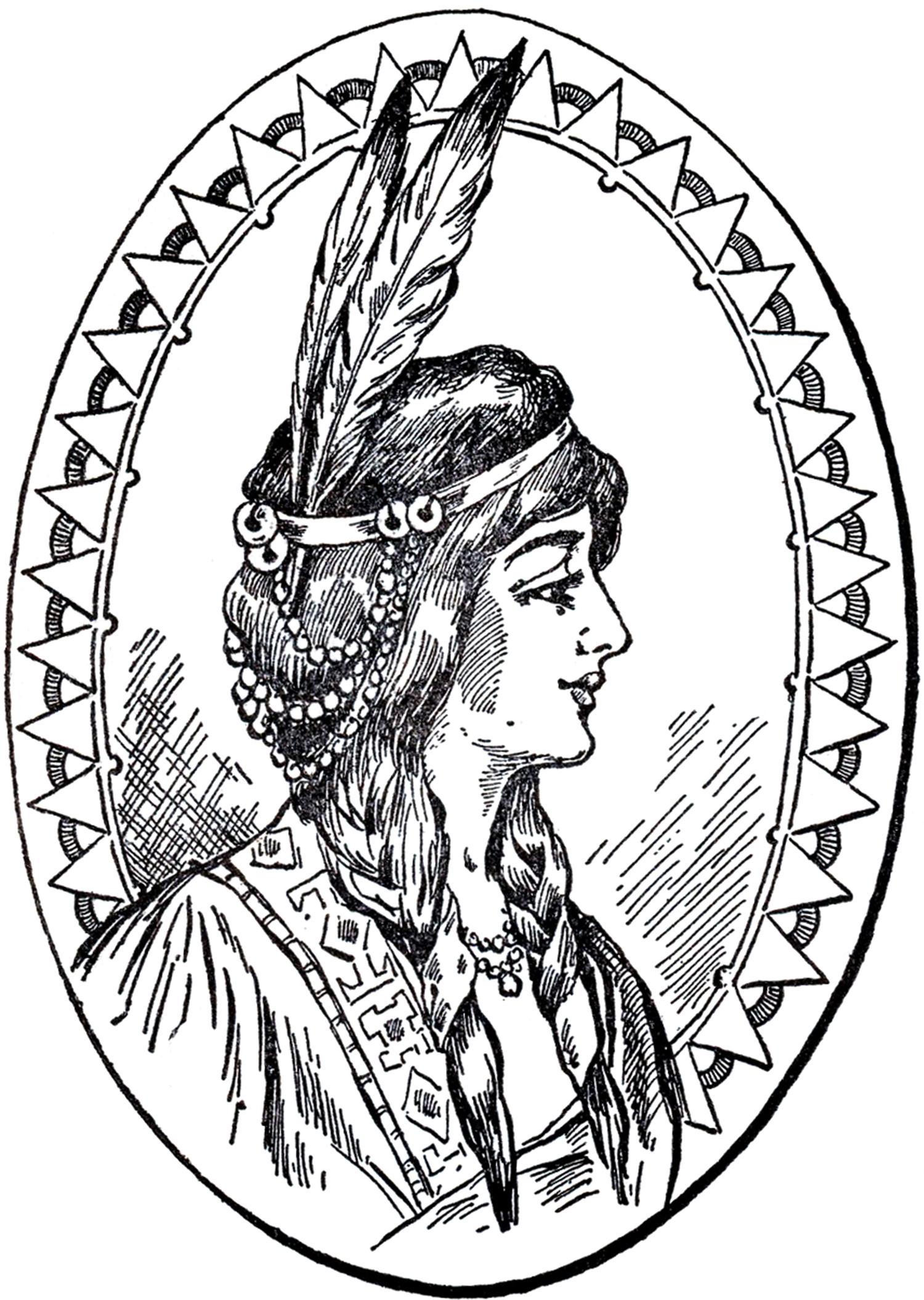 Native American Woman Clip Art