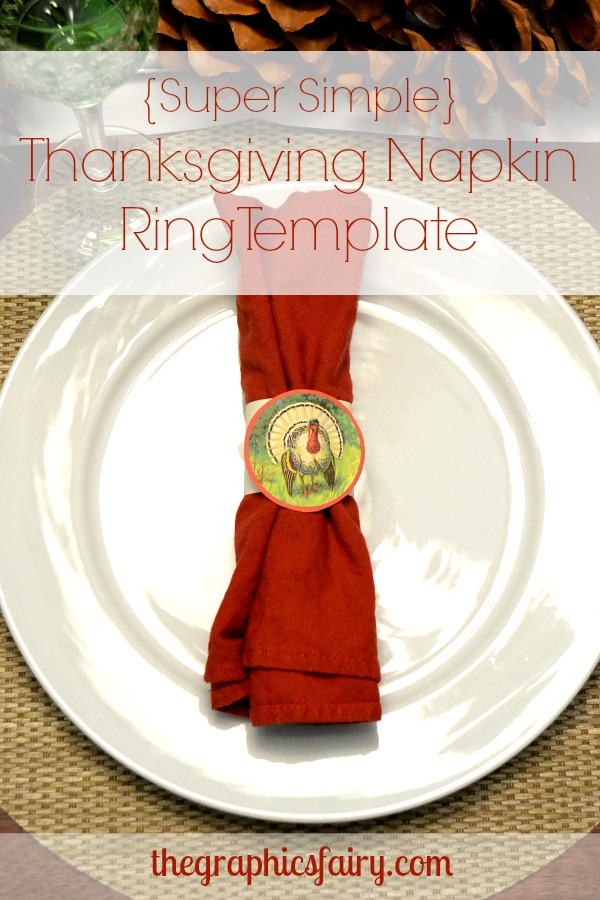 Thanksgiving Turkey Napkin Rings Template The Graphics Fairy