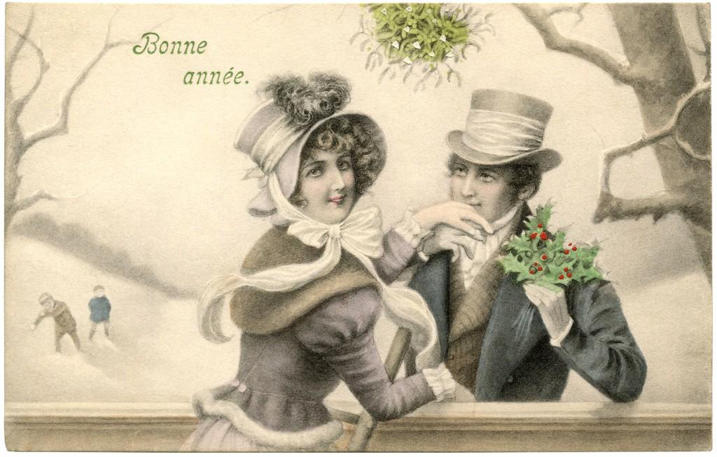 Mistletoe Couple Image The Graphics Fairy
