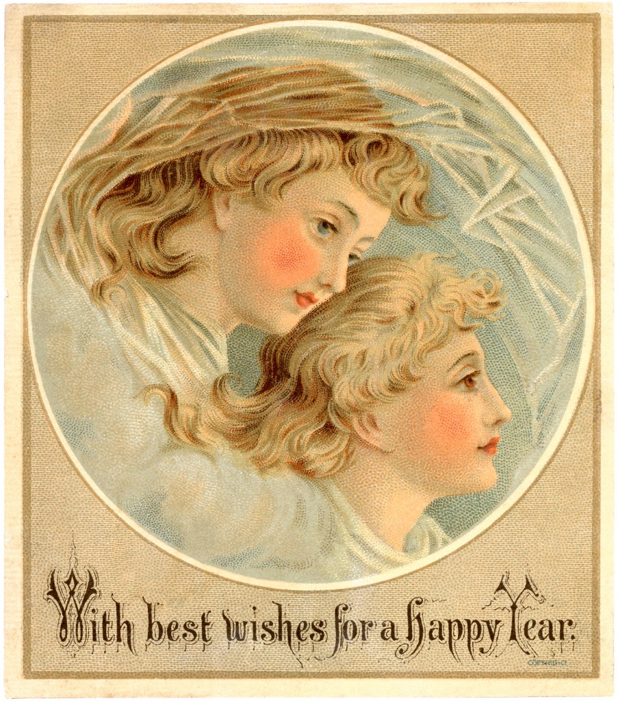 Vintage New Years Image The Graphics Fairy