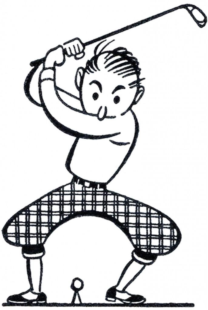 Retro Golf Clip Art Funny The Graphics Fairy
