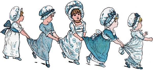 Vintage Kate Greenaway Children - The Graphics Fairy