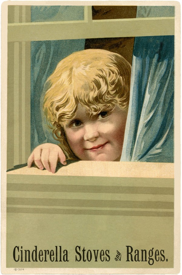 Antique Advertising Card - Cute Girl! - The Graphics Fairy