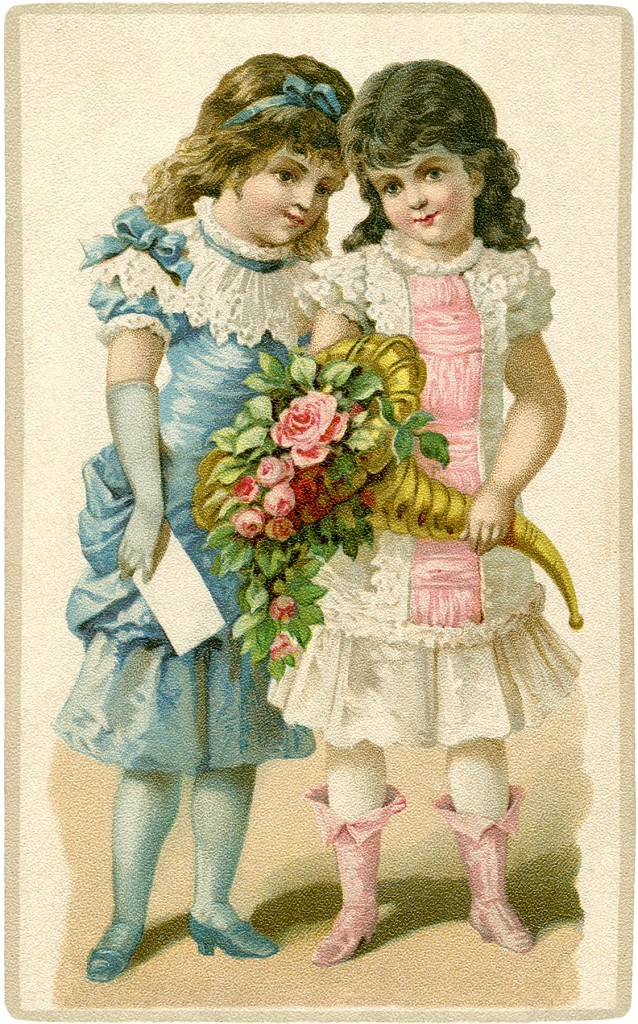 Fancy Little Victorian Girls The Graphics Fairy