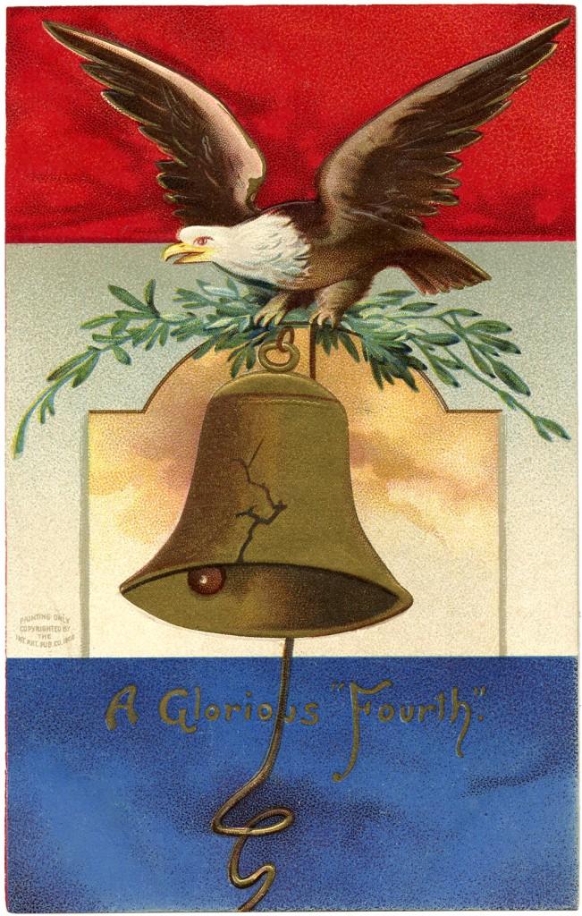 Vintage Patriotic Eagle Image The Graphics Fairy