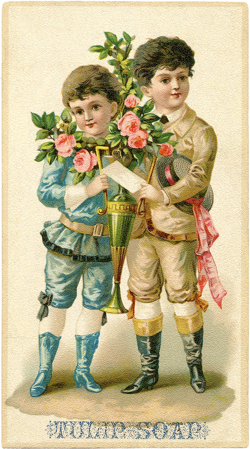 Fancy Victorian Boys Graphic The Graphics Fairy