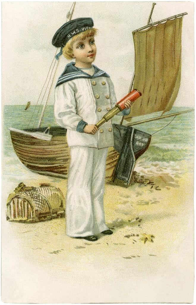 Cutest Vintage Sailor Boy Image The Graphics Fairy