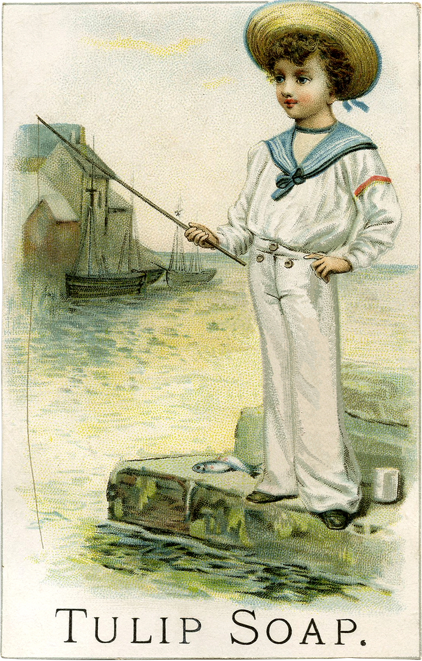 Vintage Sailor Boy Picture Darling The Graphics Fairy