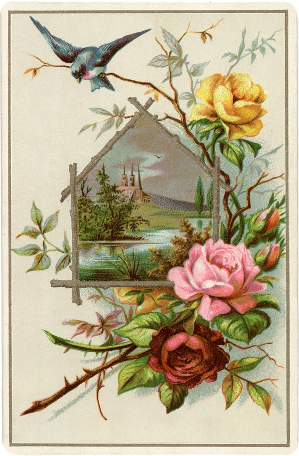 Pretty Vintage Roses Picture! - The Graphics Fairy