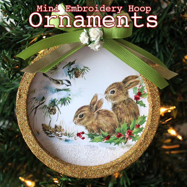Mini Embroidery Hoop Ornament The Graphics Fairy