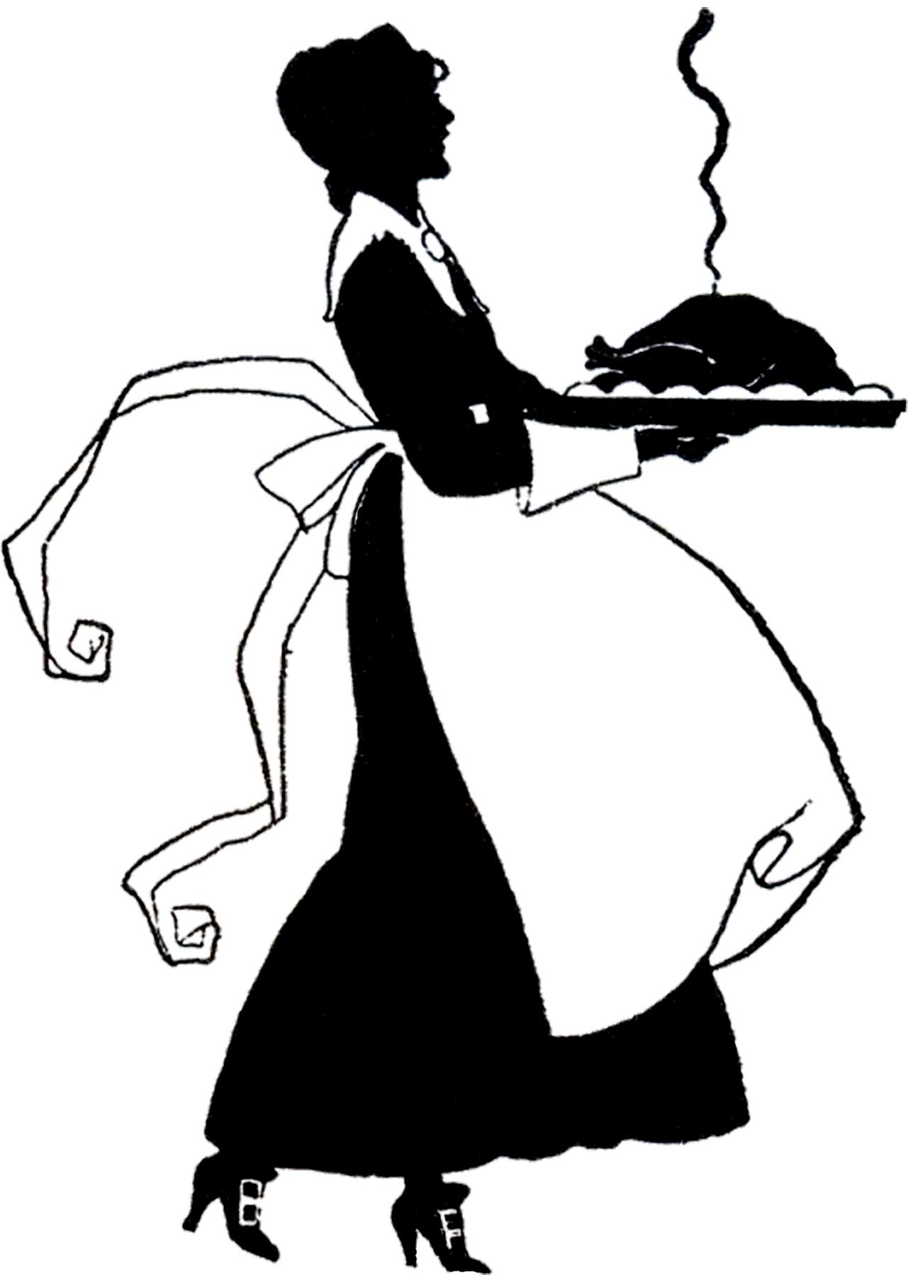 Cute Thanksgiving Pilgrim Lady Silhouette