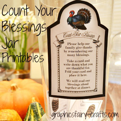 Count Your Blessings Jar Amp Thanksgiving Printables The
