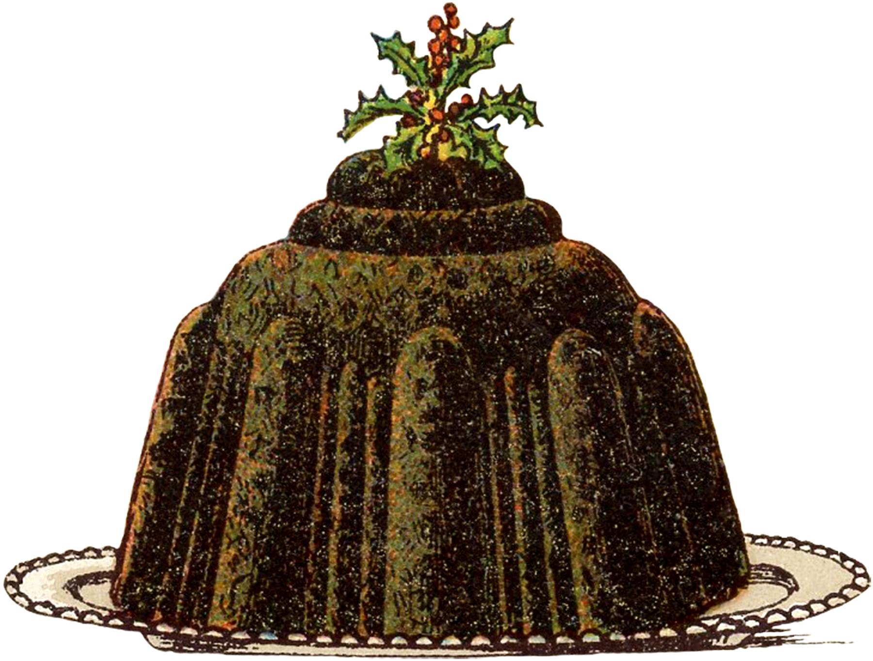 Vintage Christmas Plum Pudding Image The Graphics Fairy