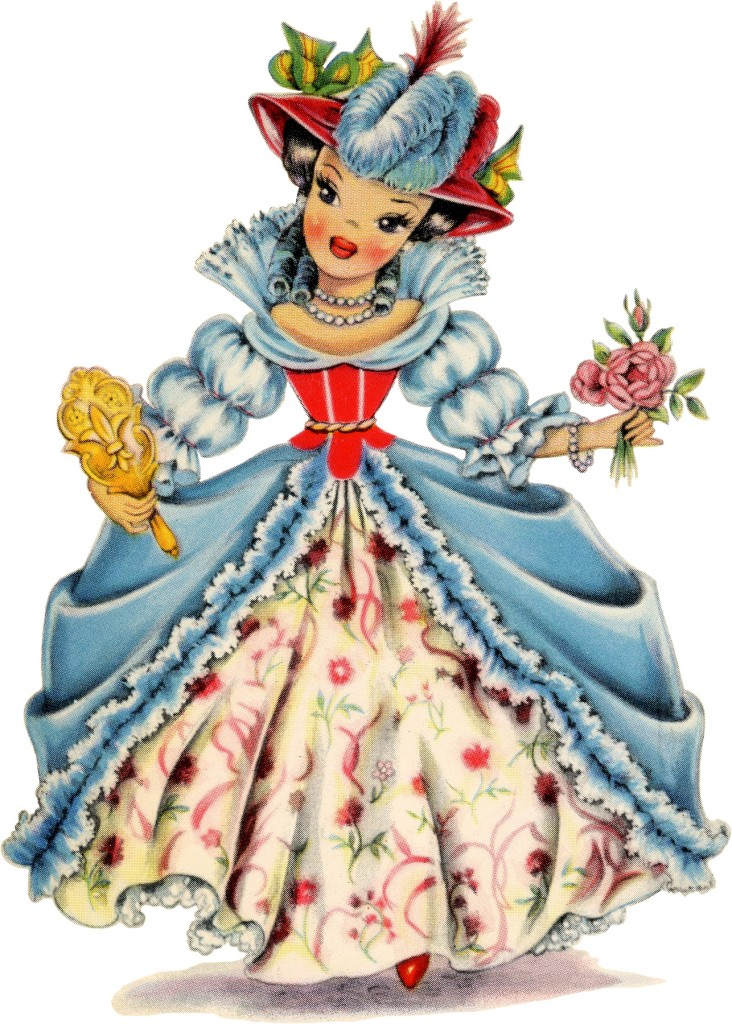 Retro France Doll Image The Graphics Fairy