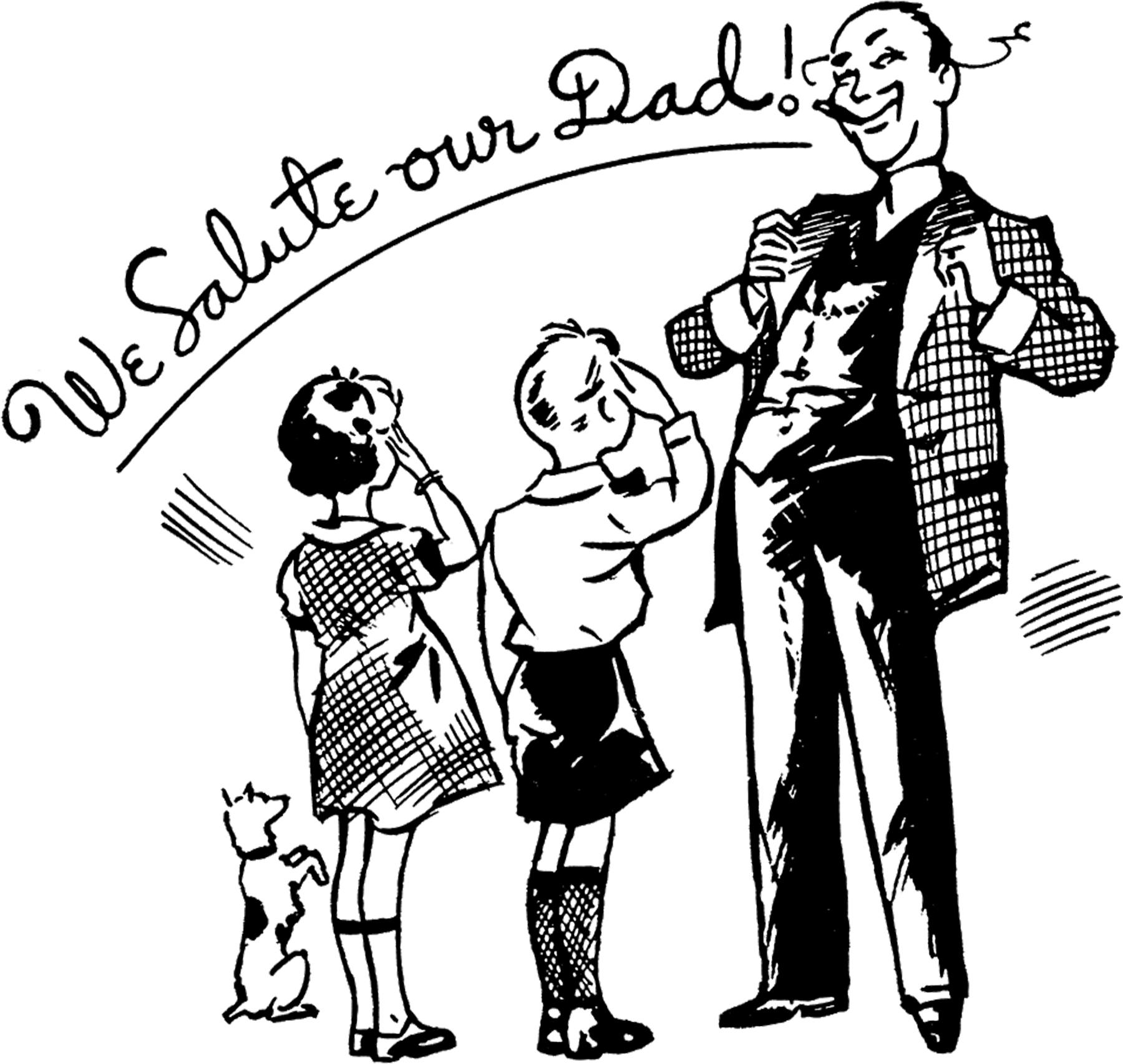 12 Retro Father S Day Clipart