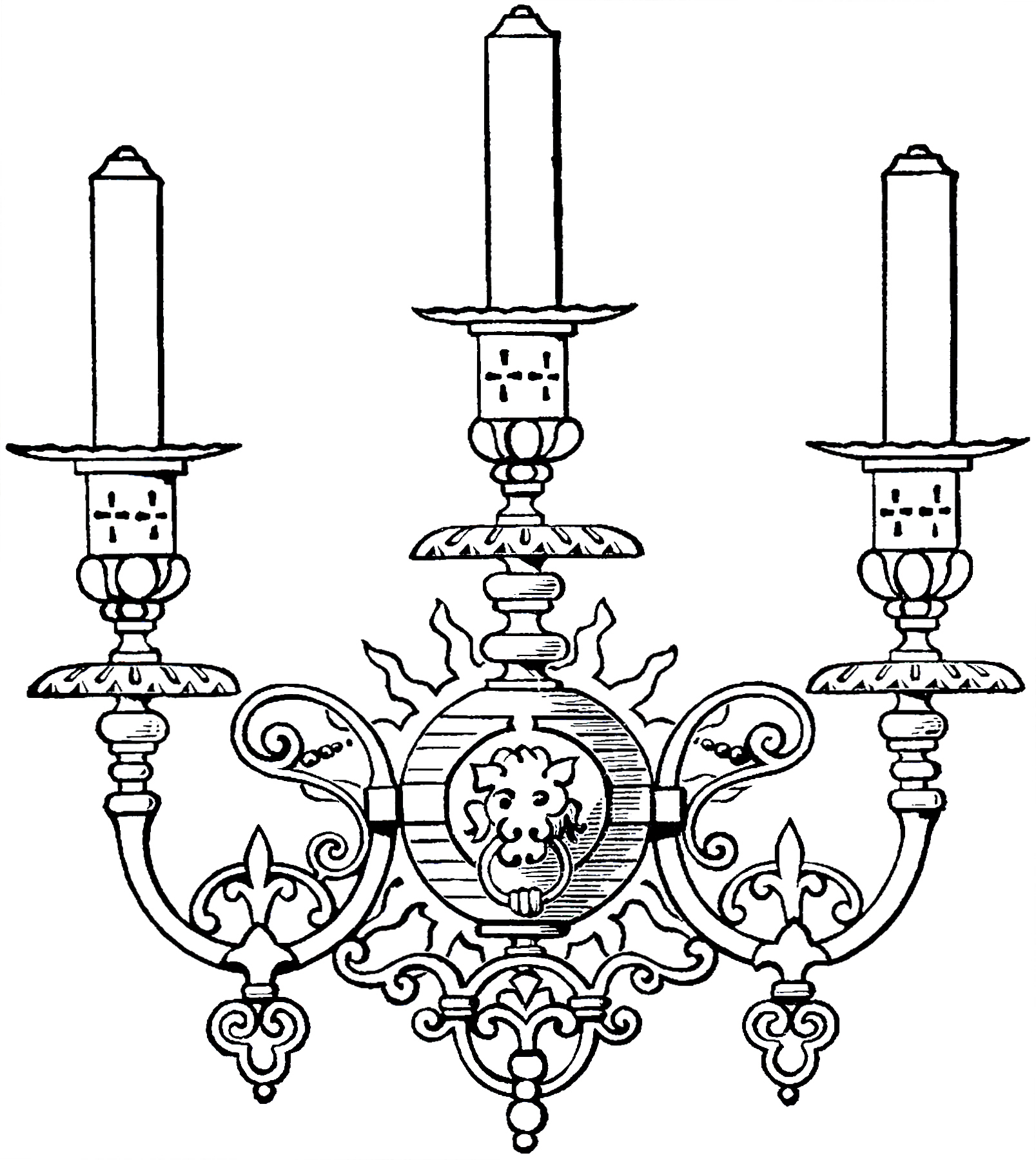 Vintage Gothic Candle Sconce Image