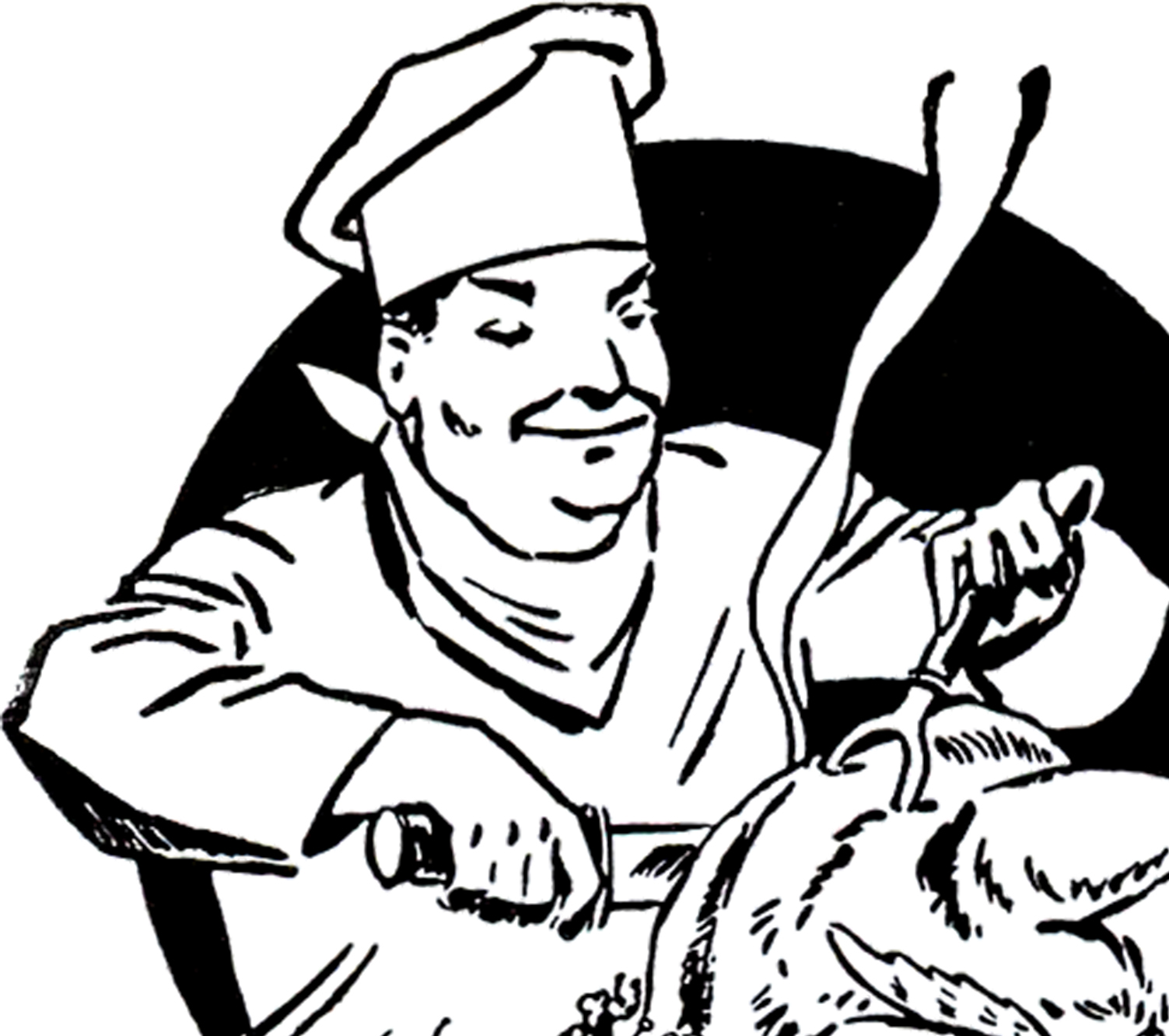 Vintage Turkey Carving Image