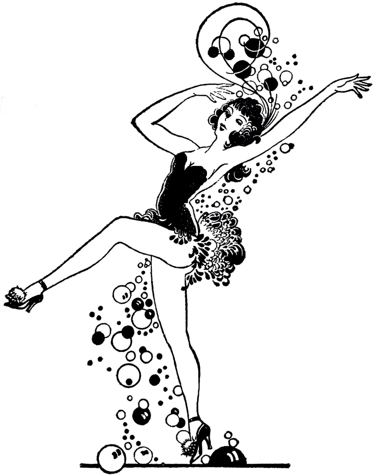 Retro Bubble Dancer Image
