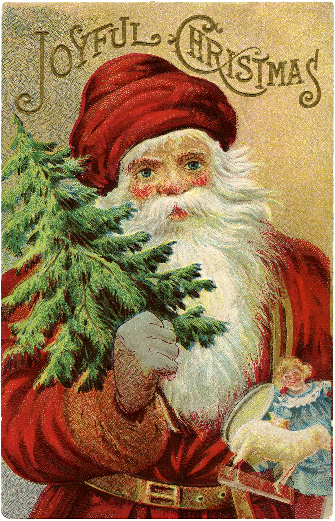 Vintage Christmas Santa Image
