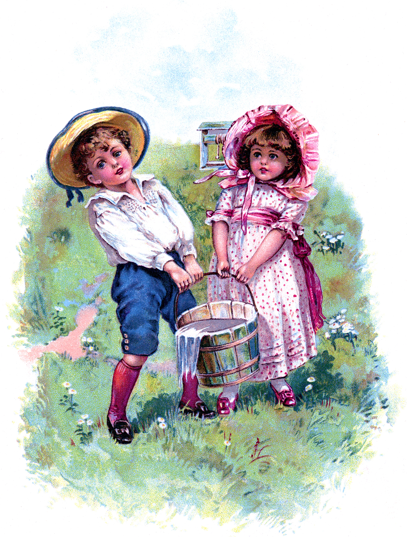 Vintage Jack And Jill Picture The Graphics Fairy