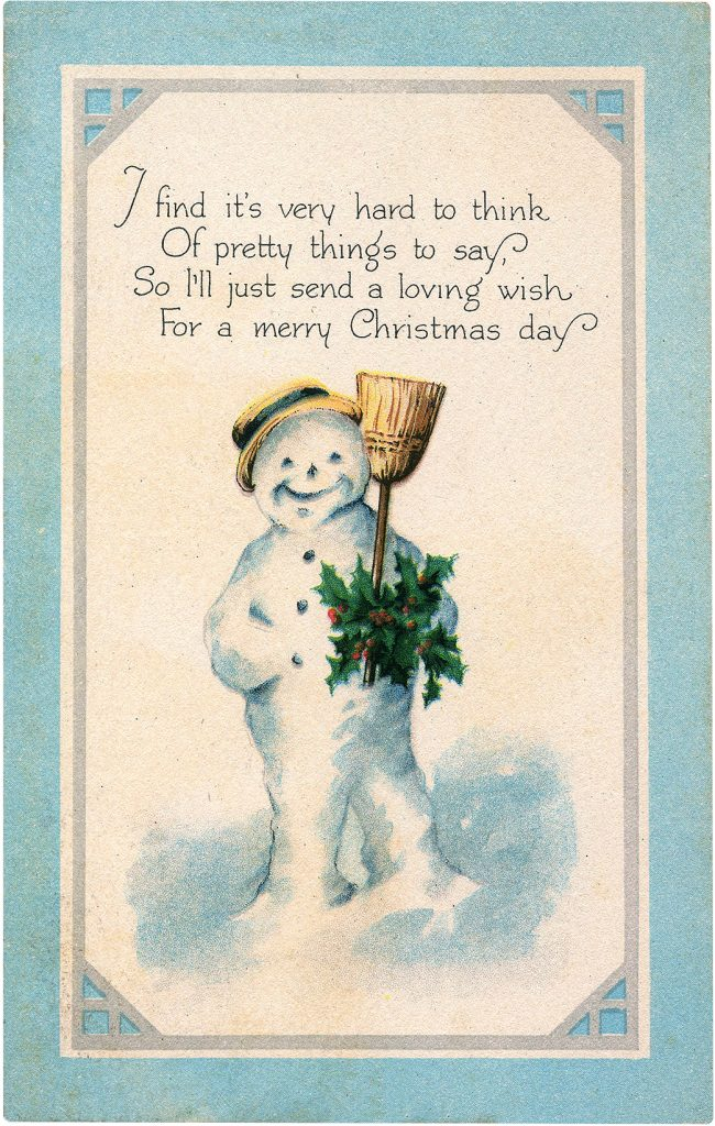 15 Best Snowman Images The Graphics Fairy