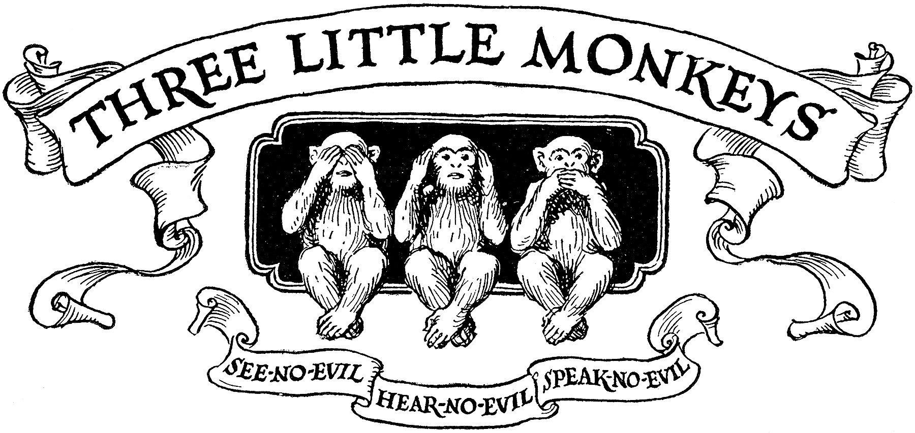 No Hear Evil See And No And Speak And Monkeys Three Evil Evil No