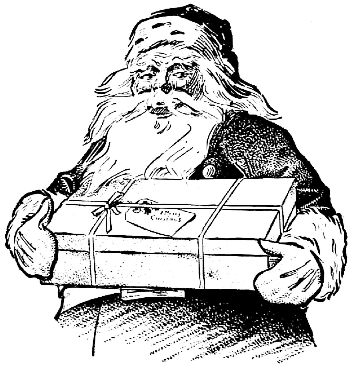 6 Santa Illustrations