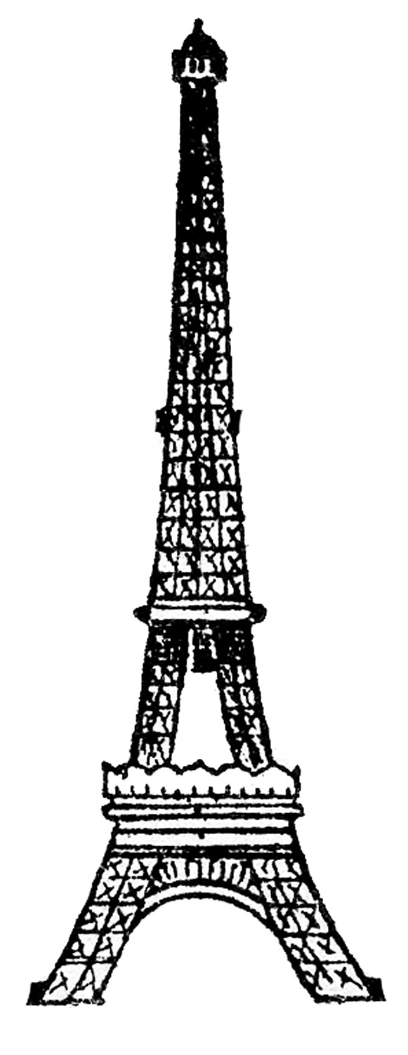 8 Vintage Eiffel Tower Clip Art! - The Graphics Fairy