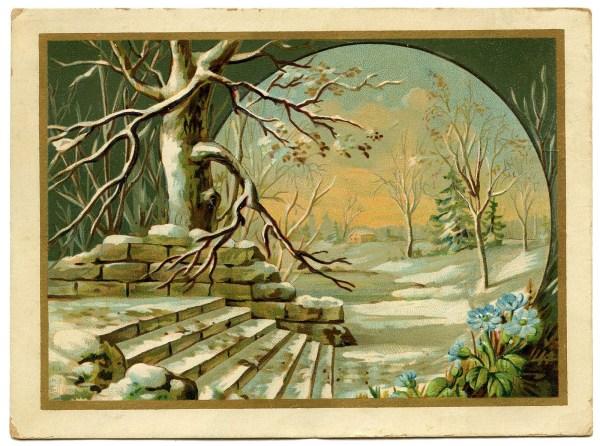 12 Vintage Winter Graphics - Landscapes - The Graphics Fairy