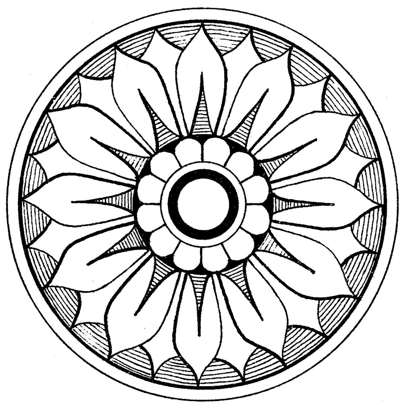 12 Medallion Clip Art