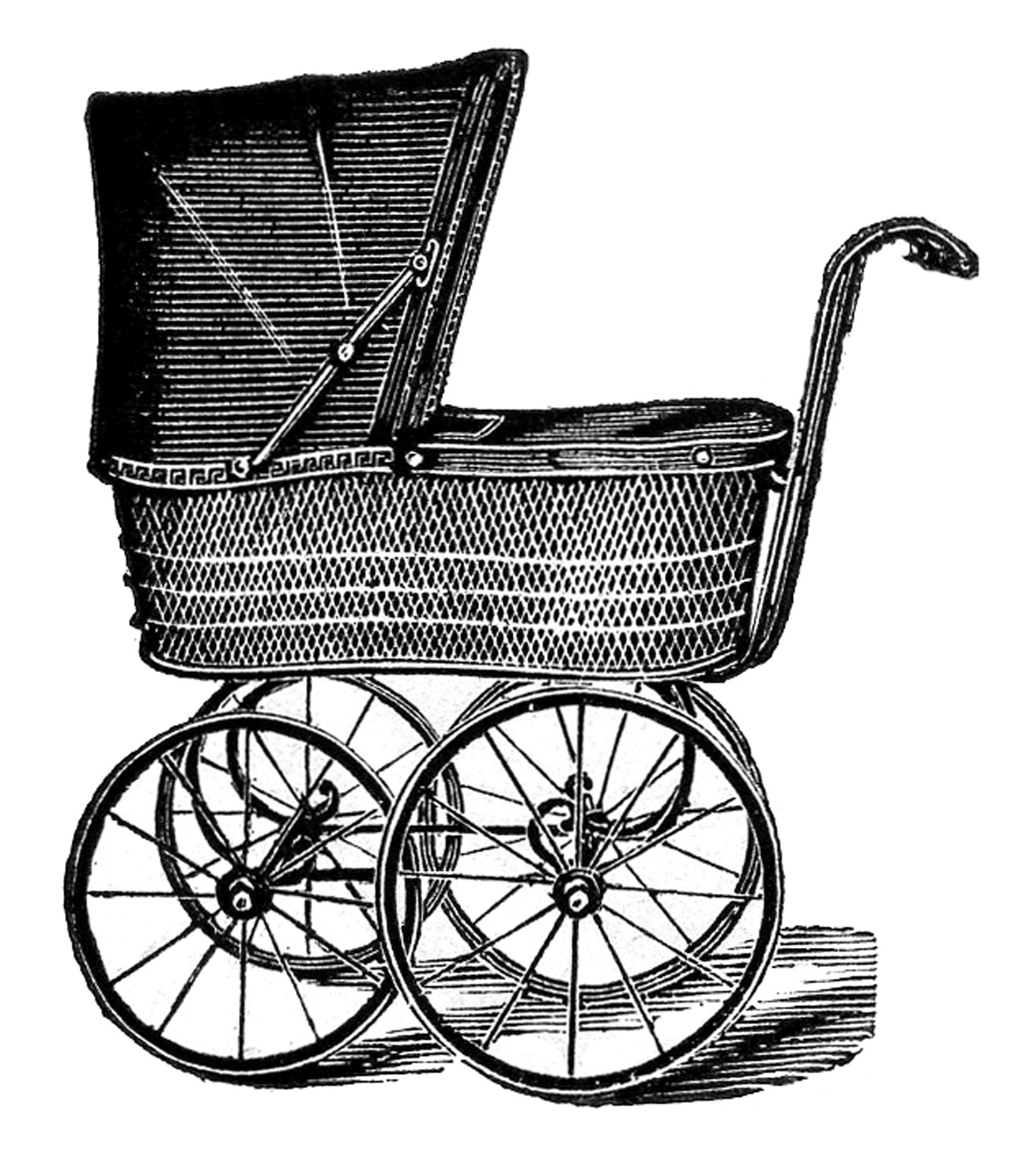 7 antique baby carriage images the