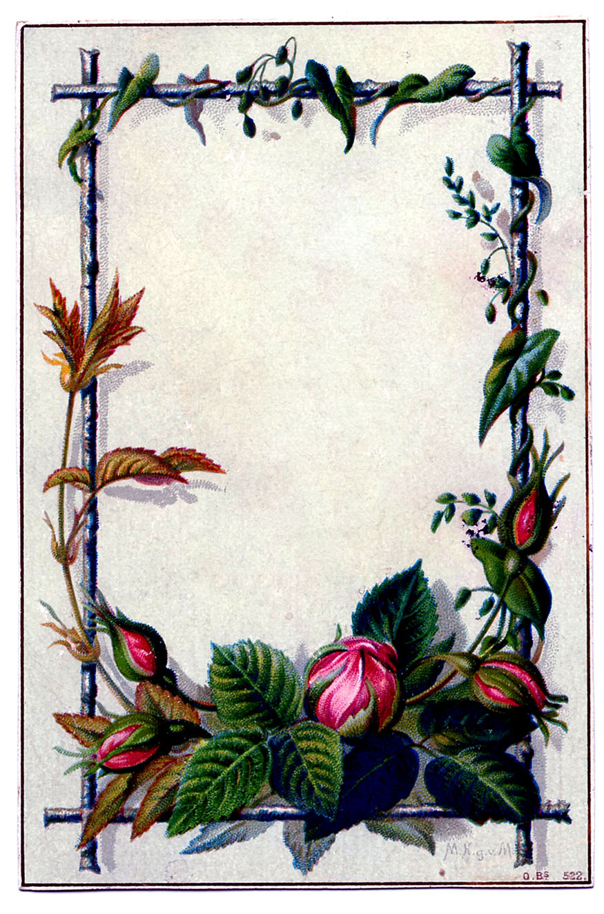 Vintage New Year Clip Art - Moss Rose Frame - The Graphics ... on New Get Design  id=12254