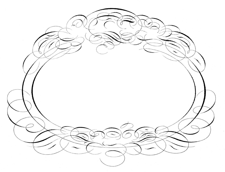 Gorgeous Spencerian Frame